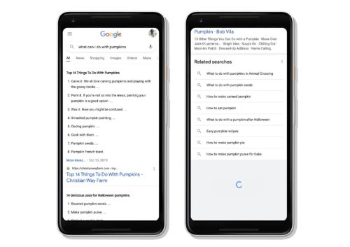 Continuous Scrolling to Mobile Search Results