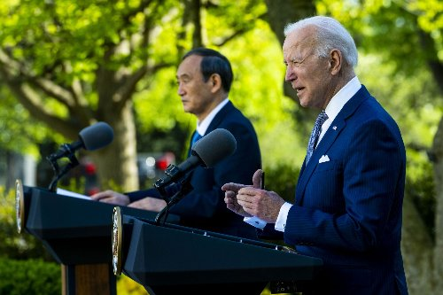 In first in-person meeting with a foreign leader, US President Joe Biden meets Japanese PM Suga
