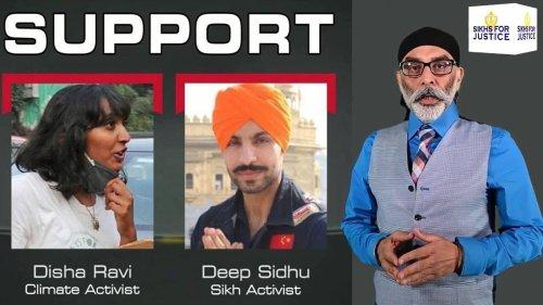 Radical group 'Sikhs For Justice' speaks up for Disha, Nikita, Deep Sidhu & Nodeep on YouTube