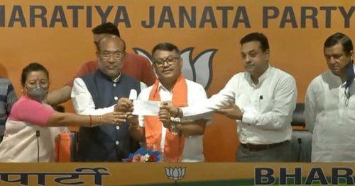 Former Manipur Congress President Govindas Konthoujam Joins BJP
