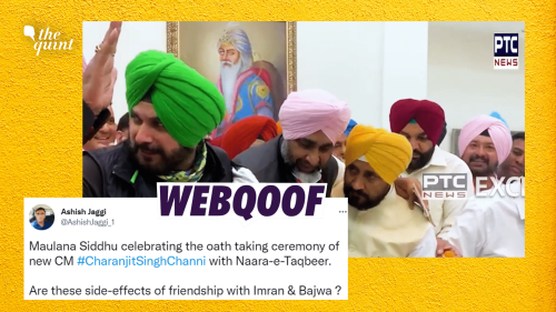 Clipped Video of Navjot Singh Sidhu Shared With a Communal Claim