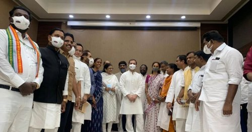 At Oppn Breakfast Meet, Rahul Talks of 'Unity', Then Rides Cycle to Parliament