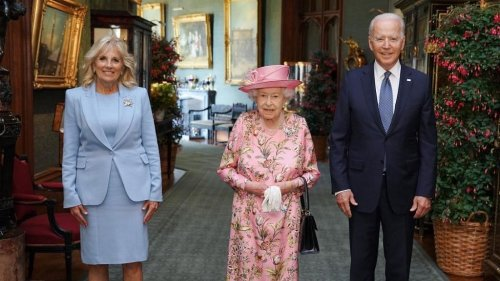 Biden Meets Queen Elizabeth, Says She Was 'Very Gracious'