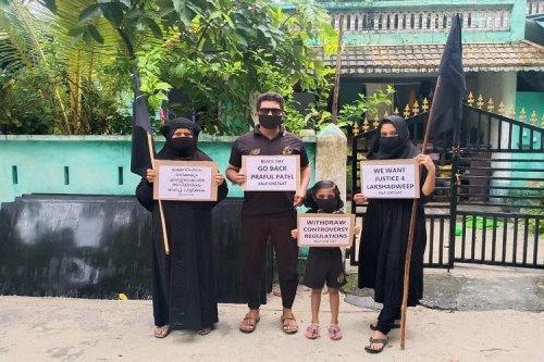 Black Day: Lakshadweep Locals Protest Praful Patel's Island Visit