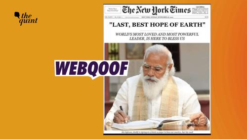 Photoshopped Image of NYT Front Page Praising PM Modi Goes Viral