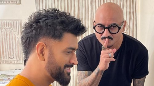 Former Indian Cricket Captain MS Dhoni Sports New Look
