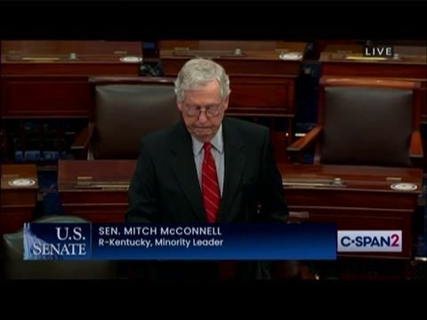 """Sen. Min. Leader McConnell says critical race theory is based on """"ahistorical claims about our nation's origins."""""""