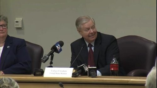 A brief moment of transparency from Sen. Lindsey Graham (R-SC) at a roundtable in South Carolina.