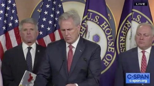 """House Minority Leader McCarthy (R-CA), who opposed a January 6th commission: """"We want to get to the bottom of that."""""""