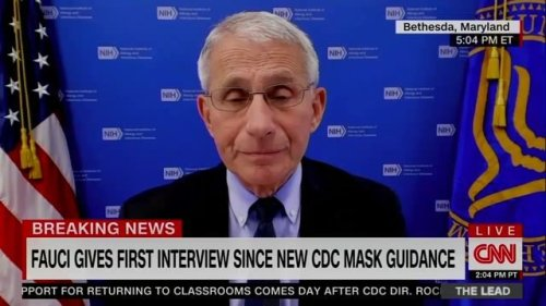 "Dr. Fauci: Grocery stores and pharmacies should ""absolutely"" allow vaccinated people to come in and shop without masks."
