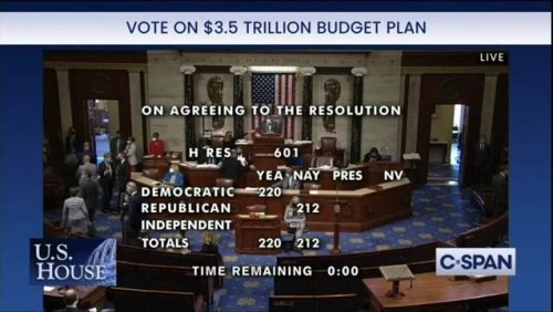 House votes 220-212 to advance Biden's jobs and infrastructure plans and John Lewis Voting Rights Act.