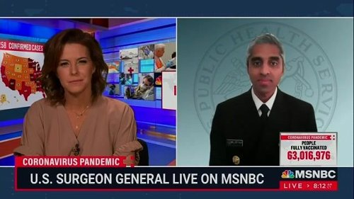 U.S. Surgeon General Dr. Vivek Murthy: Government will not require or issue vaccine passport. Private sector developing.
