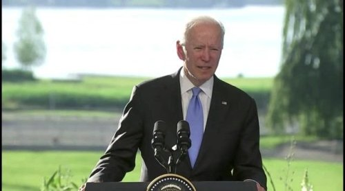 Freudian Slip of the Day: Biden refers to President Putin as President Trump, then quickly corrects himself.