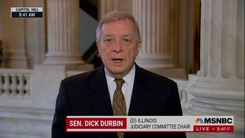 """Sen. Maj. Whip Durbin (D-IL) on 1/6: """"I was in the so-called secret location with Mitch McConnell. I know how he felt."""""""
