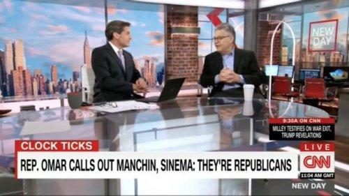 "Fmr. Sen. Al Franken (D-MN) says he's ""pretty damn sure"" that Sens. Manchin and Sinema will not sink the $3.5T budget."