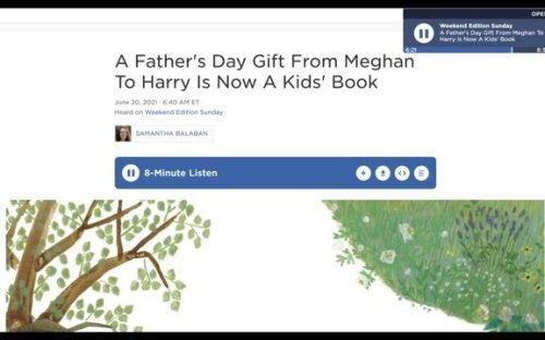 Meghan Markle says her children's book about Harry's Father's Day gift has an image of Princess Diana's favorite flower.