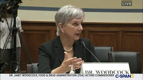 """FDA Commissioner Dr. Woodcock at House hearing on underage vaping: """"They've got nothing on caffeine."""""""