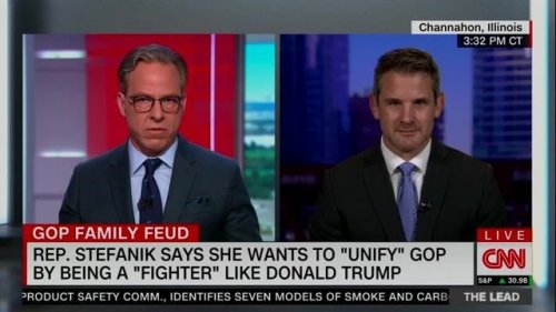 "Rep. Adam Kinzinger (R-IL) says ""maybe"" five members of his party actually believe the election was stolen from Trump."