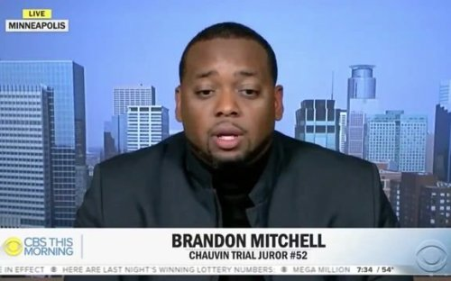 Chauvin Trial Juror Brandon Mitchell says he didn't feel pressure to reach a guilty verdict because world was watching.
