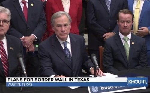 """Gov. Greg Abbott (R-TX) responds to criticism about focus on border wall as a distraction and """"political theater."""""""