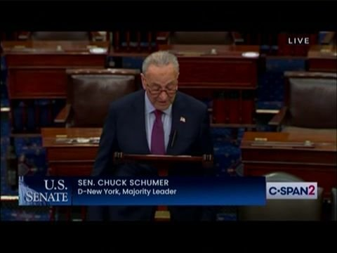 """Senate Majority Leader Schumer (D-NY) on the Big Lie: """"How despicable a man is Donald Trump?"""""""