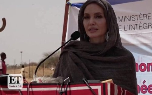 Angelina Jolie marks World Refugee Day calling for action to combat displacement caused by climate change.