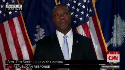 """Sen. Tim Scott (R-SC) in GOP rebuttal: """"Our best future does not come from Washington schemes or socialist dreams."""""""