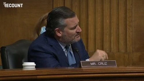 Sen. Cruz (R-TX) walks out of today's gun violence hearing after complaining about the Biden administration's nominees.