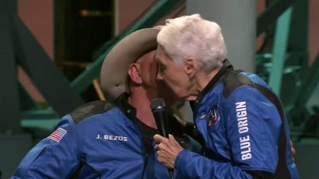 """82-year-old Wally Funk, part of defunct NASA female astronaut program, on launch: """"I've been waiting a long time ..."""""""