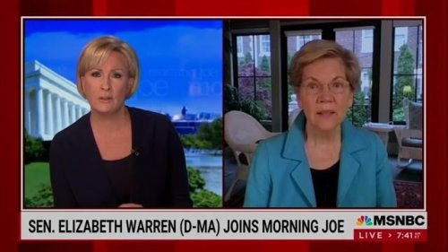"""Sen. Warren (D-MA) says """"it's tough"""" to work with Republicans: """"It's not as if there's really a coherent push ..."""""""