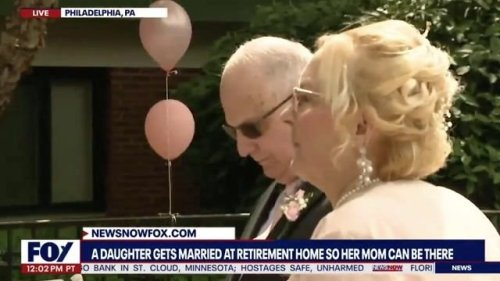 A Philadelphia woman gets married at a retirement home so that her mom can be there.