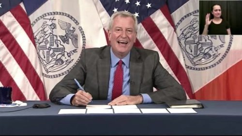 """NYC Mayor Bill de Blasio (D) says he hasn't """"ruled out anything"""" when asked about running for governor in 2022."""