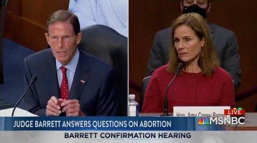 Blumenthal Questions Barrett on IVF