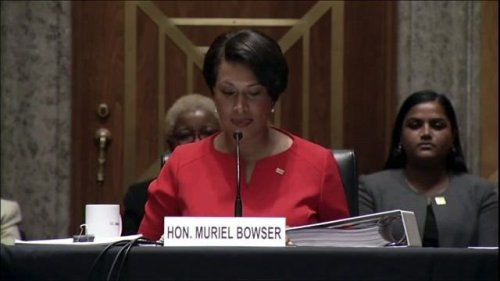 """DC Mayor Muriel Bowser (D) urges Congress to grant DC statehood and """"right the wrong that occurred some 220 years ago."""""""