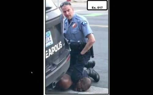 """Warning: Graphic image. Minneapolis Police Chief: Chauvin's position on George Floyd """"is not"""" reasonable use of force."""