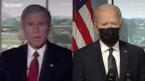 Bush vs. Biden Afghanistan Address