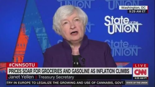 """Treasury Secretary Janet Yellen on inflation: """"I expect improvement by the middle to end of next year."""""""