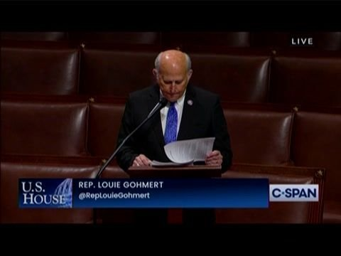 "Rep. Louie Gohmert (R-TX) calls prosecution of ""nonviolent Capitol protesters"" an ""outrageous miscarriage of justice."""