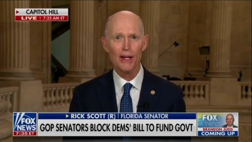"""Sen. Rick Scott (R-FL) on raising the debt limit to prevent a recession: """"It's disgusting what the Democrats are doing."""""""