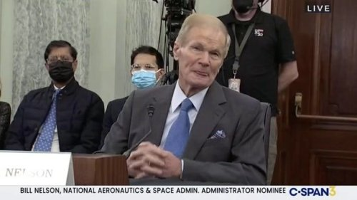 """Admin. nominee Bill Nelson's vision for NASA: """"To continue for us to explore the heavens with humans & with machines."""""""