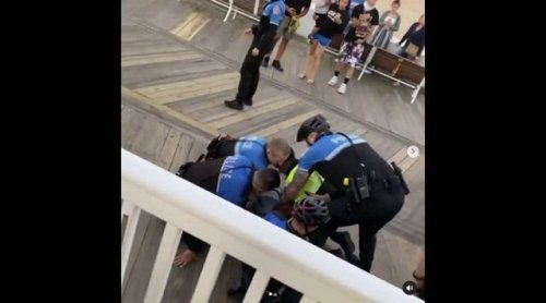 Police in Ocean City, Maryland, Tase and detain Black teens who they accused of vaping on the boardwalk.