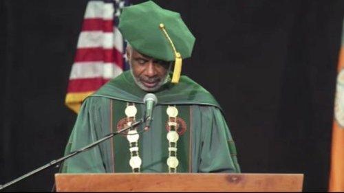Florida A&M University President Larry Robinson surprises graduates with $16M student debt relief announcement.