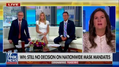 Fmr. WH Press Sec. Sarah Huckabee Sanders says if elected governor of Arkansas there will be no mask or vaccine mandate.