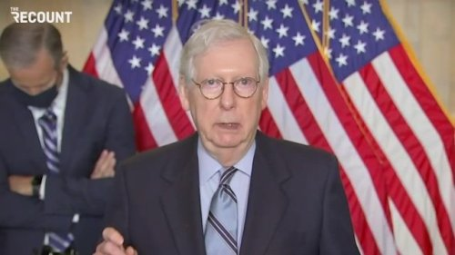Senate Minority Leader Mitch McConnell scolds the press over coverage of proposals to expand the Supreme Court.