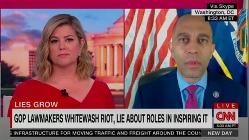 "Rep. Jeffries (D-NY) on GOP downplaying the Jan. 6 riot: ""House Republicans have definitively become a full-blown cult."""
