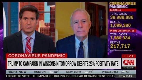 "Milwaukee Mayor Barrett (D) on Trump's Wisconsin rally tomorrow despite 23% positivity rate: ""He's been in denial."""