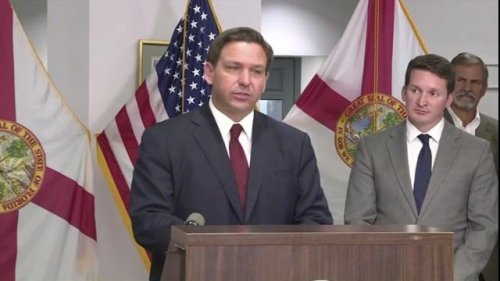"""Gov. DeSantis (R-FL) to Pres. Biden: """"Why don't you do your job? ... I don't wanna hear a blip about COVID from you."""""""