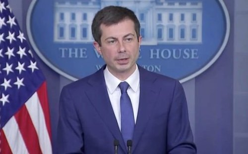 """Transportation Sec. Buttigieg: Gas should not """"be put into anything but a vehicle directly or an approved container."""""""