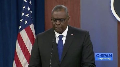 """Defense Secretary Lloyd Austin says the final drawdown of U.S. forces in Afghanistan is """"going according to plan."""""""