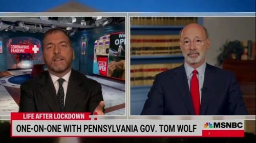 """Gov. Wolf (D-PA) says the state was """"taken by surprise"""" when the CDC announced new mask guidelines."""
